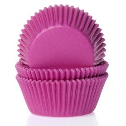 Papilotki na muffinki MINI - HOT PINK
