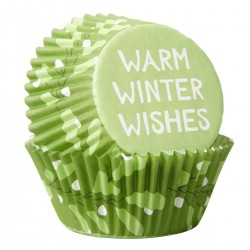WILTON papilotki na muffinki - WARM WINTER WISHES