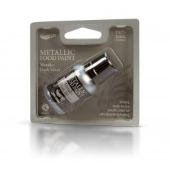 Farbka jadalna Rainbow Dust - DARK SILVER  25 ml